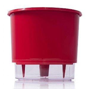 Vaso Autoirrigável Raiz PEQUENO N02 12 cm X 11 cm - Vermelho