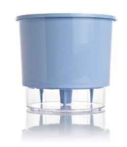 Vaso Autoirrigável MÉDIO N03 16 cm x 14 cm Azul Serenity Linha Wishes