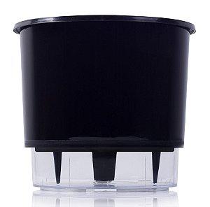 Vaso Autoirrigável MÉDIO N03 16 cm x 14 cm Preto