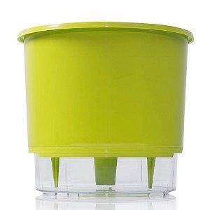 Vaso Autoirrigável MÉDIO N03 16 cm x 14 cm Verde Claro