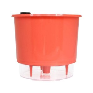 Vaso Autoirrigável Raiz PEQUENO N02 12 cm X 11 cm - Coral Linha Whishes
