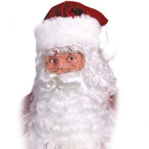 Peruca com Barba de Papai Noel