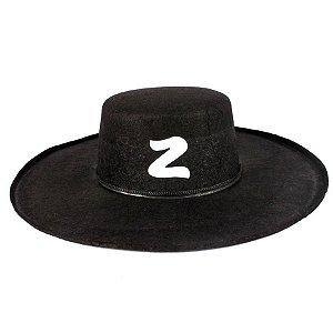 Chapéu Zorro Veludo