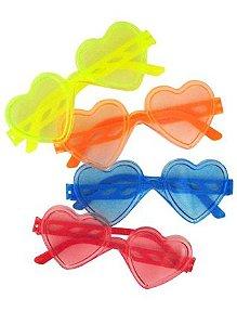 Óculos Coração Cristal com 10 Unidades