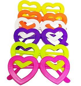Óculos Coração sem Lente com 10 Unidades