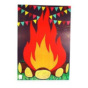 Painel Fogueira Decorativo Cartonagem