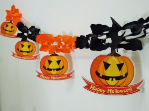 Guirlanda Decorativa Abobora Halloween