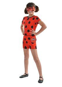 Fantasia Ladybug Macacão Curto - 16402