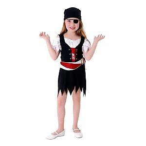 Fantasia Infantil Pirata Feminina - Vestido - Sulamericana Ref. 23903