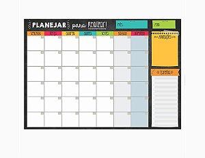 Bloco Planner Mensal Planejar Para Realizar