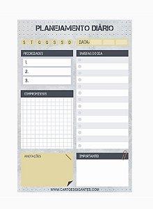 Bloco de Anotações Planejamento Diário