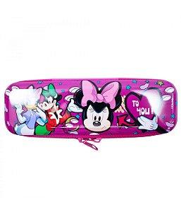 Estojo Minnie Metal Roxo Bravinha  Disney