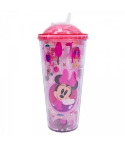Copo Rosa Minnie Cubos Gelo Artificial - Disney 600 ml