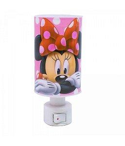 Luminária Abajur de tomada Rosa Minnie Mouse Disney