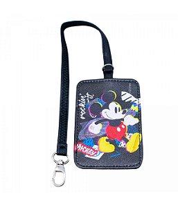 Etiqueta Para Bagagem viagem Preta Mickey Disney