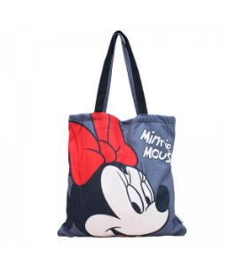 Bolsa Cinza Minnie Mouse saco Disney