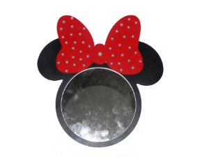 Espelho Preto com laço vermelho Minnie Mouse
