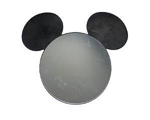 Espelho Preto Mickey Mouse