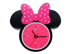 Relógio de parede Minnie Mouse Rosa
