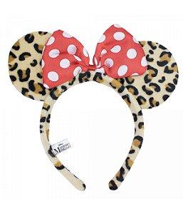 Tiara Minnie Mouse Oncinha Laço Disney