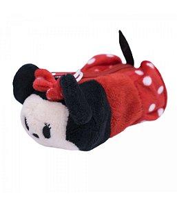 Porta Moeda Pelúcia Formato Minnie Tsum Tsum  Disney