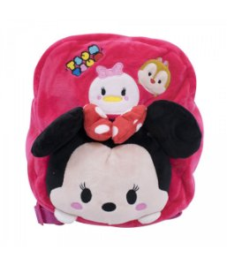 Mochila Infantil Minnie Mouse Tsumtsum Pelúcia Disney