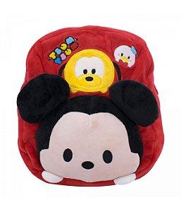 Mochila Infantil Mickey Mouse Tsumtsum Pelúcia Disney