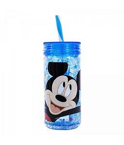 Copo Congelante Com Canudo Mickey Mouse 350ml Disney