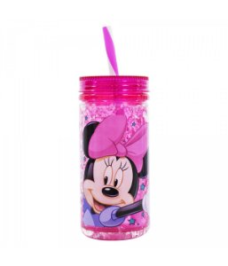 Copo Congelante Com Canudo Minnie Mouse 350ml Disney