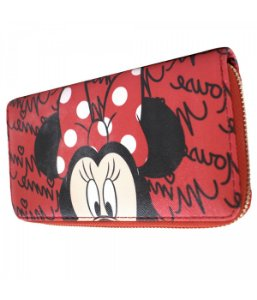 Carteira Rosto Minnie Vermelha - Disney