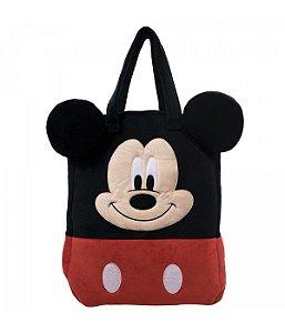 Bolsa Pelúcia Rosto Mickey Mouse - Disney
