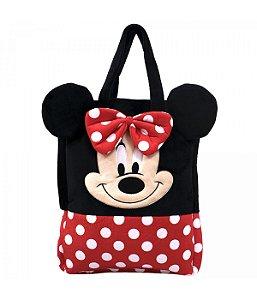 Bolsa Pelúcia Rosto Minnie Mouse - Disney