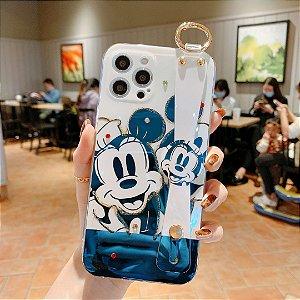 Capa celular com suporte mickey mouse para Iphone