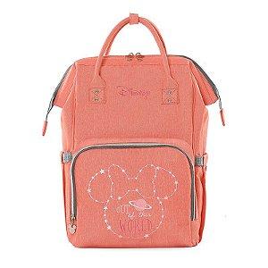 Mochila Térmica Minnie Mouse Pink Disney com aquecedor usb