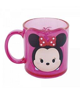 Caneca Rosa Minnie Mouse versão Tsum Tsum  - Disney 250ml
