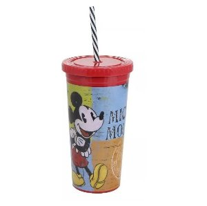 Copo Canudo Malibu Mickey Mouse 600 Ml Disney