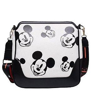 Bolsa Mickey Mouse carinhas branca
