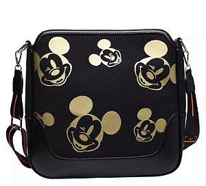Bolsa Mickey Mouse carinhas preta