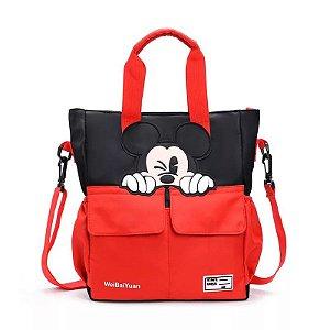 Bolsa Mickey Mouse piscando preta com vermelho