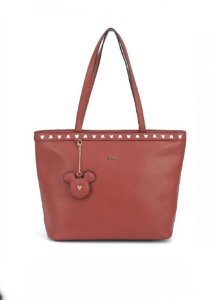 Bolsa Mickey Mouse vermelha  Disney com chaveiro