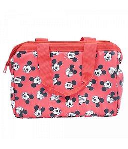 Bolsa Mickey Mouse carinhas vermelha térmica