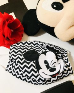 Máscara Mickey Mouse listras microfibra com forro