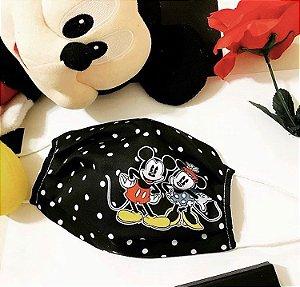 Máscara Mickey Mouse floral microfibra com forro