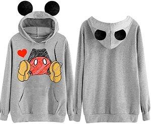 Moletom Mickey Mouse com toca de orelhinhas