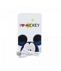 Carregador Portátil Branco Love Mickey Mouse Disney