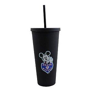 Copo canudo Mickey Mouse Disney preto