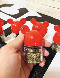 Kit 6 potes tempero Mickey Mouse orelhinhas vermelho
