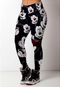 Calça legging Mickey Mouse carinhas
