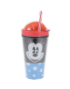 Copo Canudo 2 em 1 Minnie mouse Disney Faces 500ml