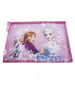 Pasta Necessaire Rosa Anna Elsa & Olaf Frozen Disney
